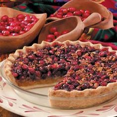 Cranberry Pecan Pie <3 I have made this a family tradition :)