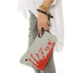 NEEWER® Faux Leather Bloody Knife Handbag Cleaver Clutch Purse