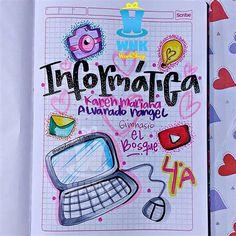 Bullet Journal Cover Ideas, Bullet Journal Lettering Ideas, Bullet Journal Writing, Bullet Journal School, Book Journal, Notebook Art, Notebook Covers, School Notebooks, Notes Design
