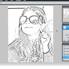 How to turn a photo into a coloring book page