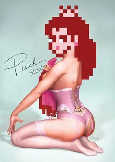 Pin-Up Princess Peach Print