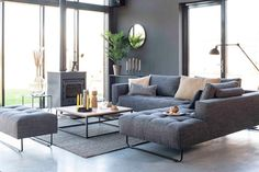 Bodilson Square-T bank - Alia Cozy Living Rooms, Living Room Modern, Living Room Chairs, Home Living Room, Living Room Decor, Modern Furniture, Furniture Design, Salons Cosy, Lounge