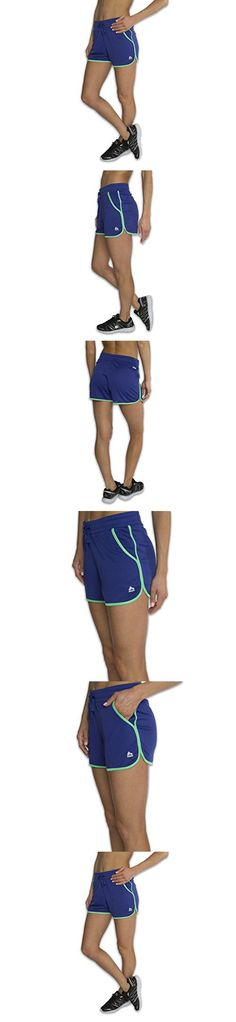 RBX Active Women's Lightweight Breezy Mesh Athetic Shorts w/ Dual Front Pockets, Small, Blue