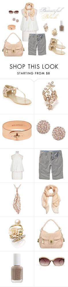 """""""Beautiful Blush"""" by kat9238 on Polyvore featuring Faith, Lisa Freede, Mulberry, L'Agence, Fat Face, Crislu, Alexander McQueen, Ariella Collection, Mischa Barton Handbags and Essie"""