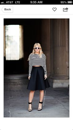 Sophisticated crop top outfit