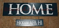 Add-on signs for the Home is Where the Military Sends us Sets. $5.00, via Etsy.