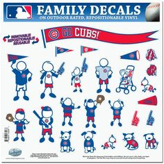 Chicago Cubs MLB Family Car Decal Set (Large)