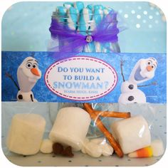 PRINTABLE - Do you want to build a snowman? - Disney FROZEN Party Favor Bag Toppers - Non-Personalized
