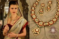 This would make such pretty and simple bridal jewelry. Talwar Jewellers - The Latest Campaign