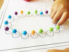 Ball top colored pushpins for fine motor activities preschool only at AlenaSani.com