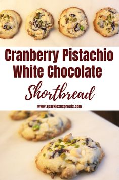 Cranberry Pistachio White Chocolate Shortbread Cookies are the perfect cookie.  They are loaded with tons of flavor and come together in no time.    Check out the post for some options to make them perfect for your family. . . #cranberry #pistachio #whitechocolate #cookie #christmas #sparklesnsprouts