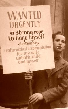 A unknown man during the Great Depression, 1932.