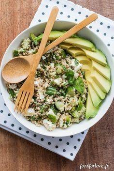 Factor Quema Grasa salade quinoa concombre feta menthe avocat (11 sur 16) Obten un vientre plano en menos de 7 días mientras sigues disfrutando de tu comida favorita