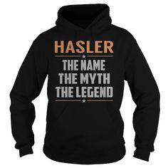 I Love HASLER The Myth, Legend - Last Name, Surname T-Shirt Shirts & Tees