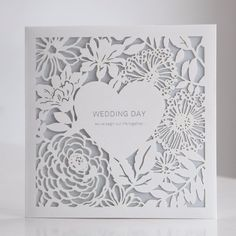 Custom White Laser Cut Floral Wedding Invitations Cards Free Env Seals BH4520 | Home & Garden, Wedding Supplies, Invitations & Stationery | eBay!