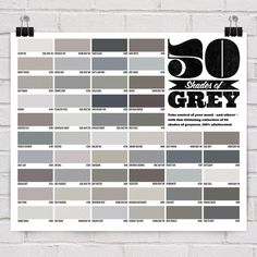 50 shades of grey. For graphic designers.