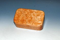 Small Wooden Box - Wood Box - Maple Burl on Mahogany Handmade Box Small Wood Jewelry Box Wooden Box Keepsake Box Handmade Jewelry Box by BurlWoodBox