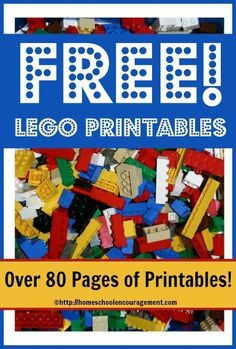 Free LEGO Printables! We have a brand new series at Homeschool Encouragement which I think your children are going to love! Each week, we are rolling out three new free LEGO printables to use in your homeschool. As new pages are ad