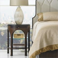 Crestaire - Alexander Telephone Table in Porter - 436-13-81 - Stanley Furniture - Night Stand - Bedroom