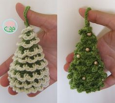 Ravelry: Amigurumi Christmas Trees Ornaments (2 designs) pattern by Tamara Lazaridou