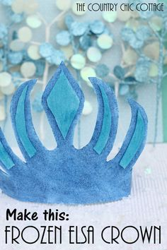 Make this easy DIY Elsa Crown for your Frozen-obsessed little ones. This is a great winter party favor idea. Frozen Movie, Elsa Frozen, Disney Frozen, Frozen Birthday Party, Frozen Party, 2nd Birthday, Birthday Ideas, Birthday Parties, Holidays Halloween