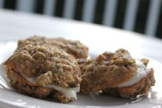 zucchini-nut bread cookie sandwiches with cream cheese filling | dish & tell