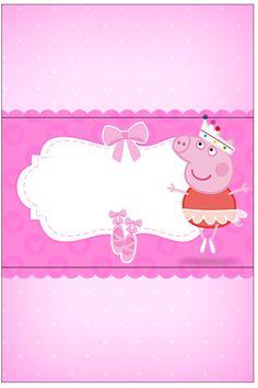 Bala Personalizada Peppa Pig Bailarina: