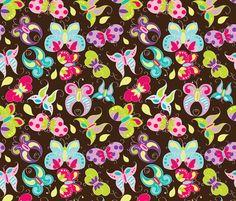 Butterfly Garden fabric by aimeemarie on Spoonflower - custom fabric