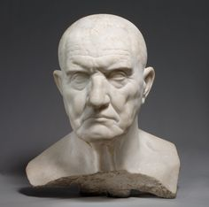 Marble bust of a man  Period: Early Imperial, Julio-Claudian Date: mid-1st century A.D. Culture: Roman Medium: Marble Dimensions: H. 14 3/8 in. (36.5 cm)