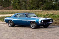 This '69 Camaro, by Modern Automotive Performance, is powered by a 625rwhp turbocharged 5.3L LM4 and features coilovers, 4-wheel disc brakes, and 18-inch Forgeline DE3P wheels finished with Titanium centers, Brushed outers, and hidden hardware. See more at: http://www.forgeline.com/customer_gallery_view.php?cvk=1350  #Forgeline #DE3P #notjustanotherprettywheel #madeinUSA #Chevy #Camaro #turbo