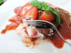 strawberry basil dessert ravioli