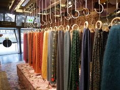 Great inspiration from Tokyo on how to display scarves!