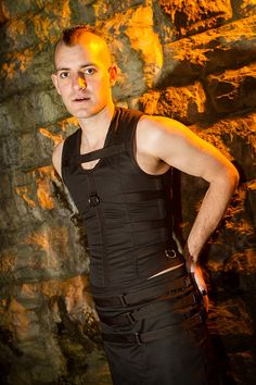 This is a made to measure, double layer construction, fully steel boned and tightlaceable mens corset vest.    Made from two layers of a