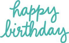 Silhouette Design Store - View Design #27095: happy birthday phrase