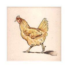 hand painted farm animal designs on tiles