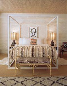 SUMMER BEDROOM: Jonathan Adler designed Parker Palm Springs Hotel Suite