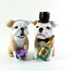 Bulldog cake topper by Karly West... LOVE