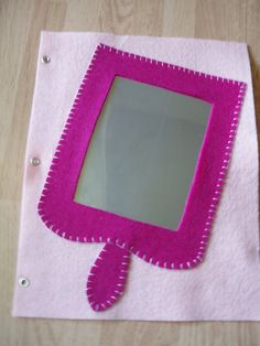 Princess mirror quiet book page by pagebypage2 on Etsy, $5.00