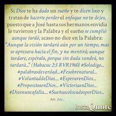 Que te digan loco, persevera...  #Solodigo... #palabrasdeverdad... #Fesobrenatural... #VoluntaddeDios.... #EsperarenDios... #PropositosenDios... #VictoriaenDios... #Diosnuncafalla.... #SueñoscolocadosporDios...