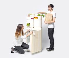It may sound surprising, but the best place for preserving your fresh fruits and veggies may actually be outside of the refrigerator -- where they will taste better, last longer and cost less in terms of energy bills. We've covered examples and low-tech tips on how to do this before, and now Spanish industrial designer Fabio Molinas takes this low-tech approach further by combining the waste heat of a conventional fridge with time-honoured tradition of using of clay to cool down perishables.