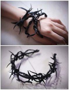 DIY Ann Demeulemeester Epine Thorn Bracelet Tutorial.This... More