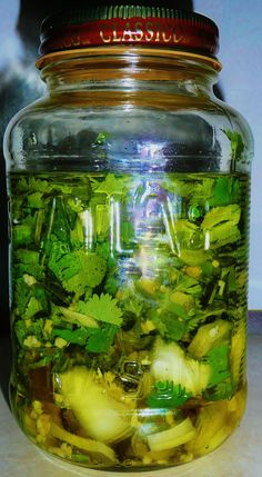 Cilantro.Onion.Garlic Infusion Oil Flavored Olive Oil, Flavored Oils, Infused Oils, What Is Olive Oil, Olive Oil And Vinegar, Olie, Homemade Seasonings, Food Charts, Olive Oils