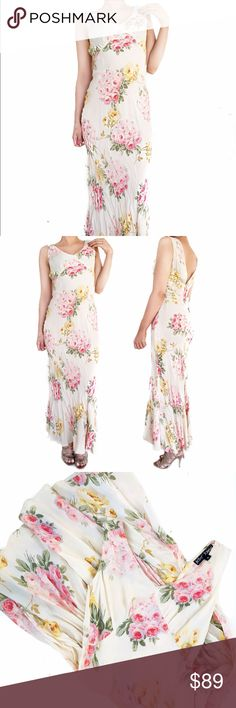 Betsey Johnson floral dress Super chic vintage betsey Johnson floral dress.  Petite small. Needs a good dry cleaning as there are some imperfections as shown. No trades. Always open to offers Betsey Johnson Dresses Maxi