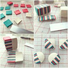 Stripes by Wakka Clay. オーダーピアス製作中❇︎ オーダーやお問い合わせ等はInstagramのDMやfacebookページのメッセージからお待ちしてます(^ ^) お気軽にご連絡ください♪