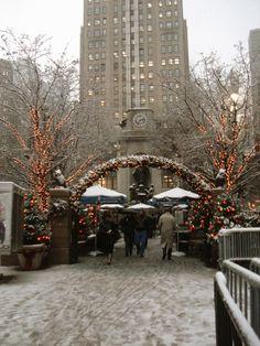 New York during Christmas season.