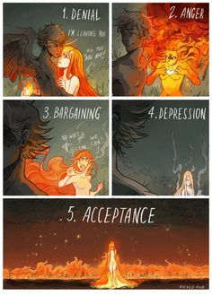 5 Stages of Grief by Picolo-kun.deviantart.com on @DeviantArt