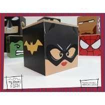 caras de batman en cajas de madera alcancias - Buscar con Google