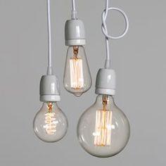 Hanglamp met porselein fitting LUCE