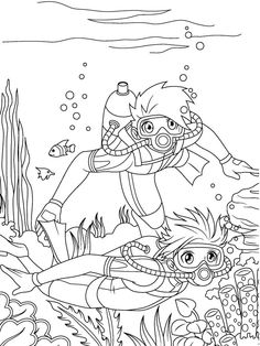 manga coloring pages - Manga Coloring Book
