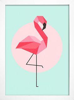 Imagem do Poster Flamingo Geometric Shapes Art, Geometric Drawing, Abstract Geometric Art, Poster Flamingo, Flamingo Art, Flamingo Wallpaper, Polygon Art, Shape Art, Diy Canvas Art